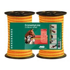 Elektriskā gana lente EconomyLine 10 mm/200 m DUO iepakojumā