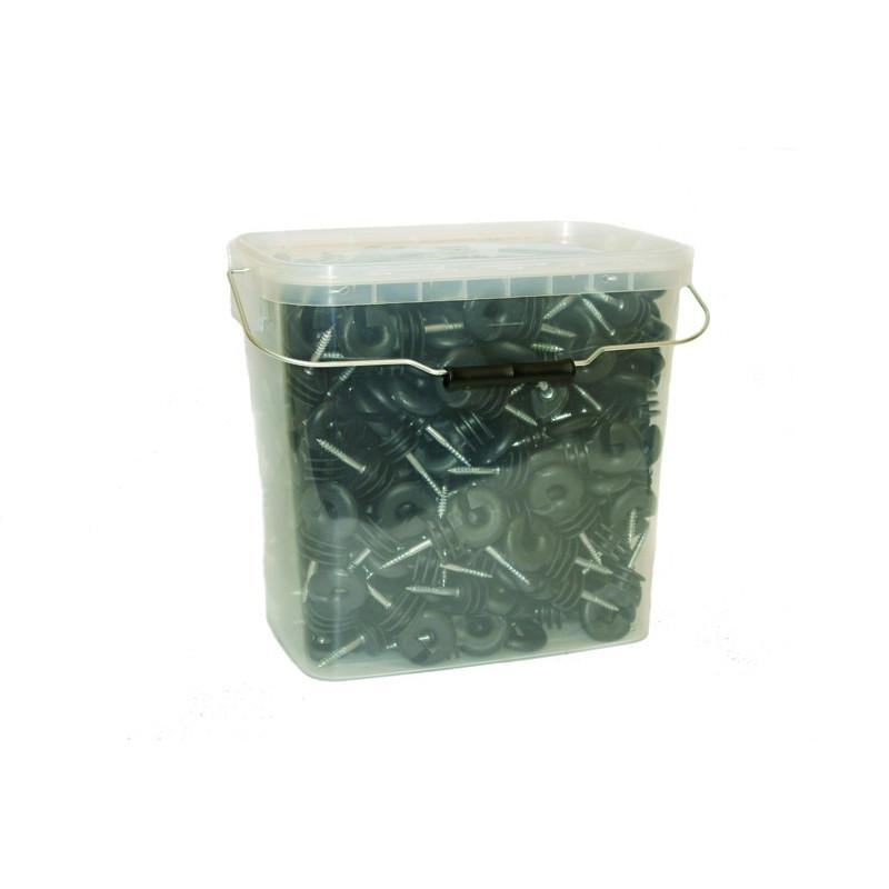 Vahva iso rengaseristin pakkauksessa 250 kpl+avain ruuvattaville eristimille