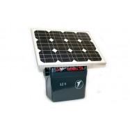 Ar akumulatoru un no elektrotīkla darbināms elektriskais gans SecurSun ar saules bateriju